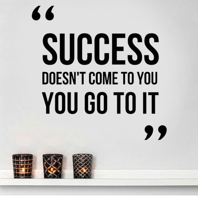 Inspire Wall Decoration Of English Character Words Success Wallpaper Best Motivational Words