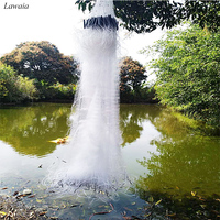 Lawaia White Fishing Gill Net Monofilament Fishing Gear Accessories Fishing Trap Network Three Layer Fish Net With Rubber Float