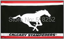Calgary Stampeders Flag 3×5 FT  Banner 100D Polyester CFL flag 1502, free shipping