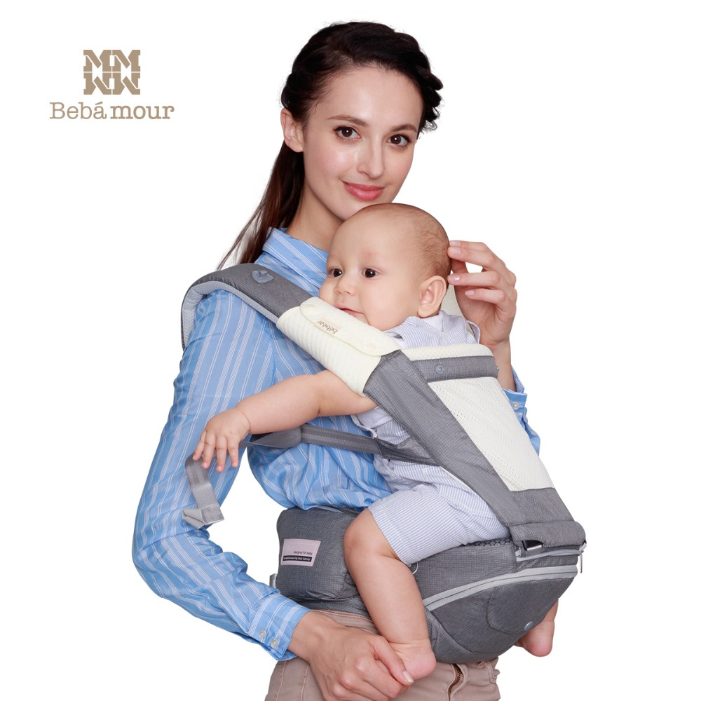 Bebamour New Foldable Aluminum Hipseat Multifunctional Baby Carrier 0-36 Months 360 Babies Sling Ergonomic Toddler Manduca корпус in win emr016 450w black silver