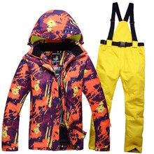 Winter Man s Woman s ski suit couple clothes thick warm ski jacket and ski pants