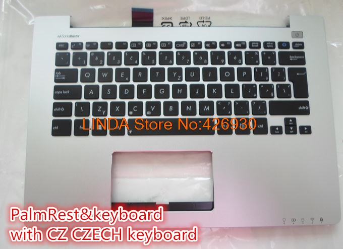 Laptop PalmRest&keyboard For ASUS S300 S300C S300SC S300K S300Ki Silver with black CZ CZECH/TW Taiwan/US United States keyboard светофильтр hoya close up set 1 2 4 72mm набор макролинз 76728