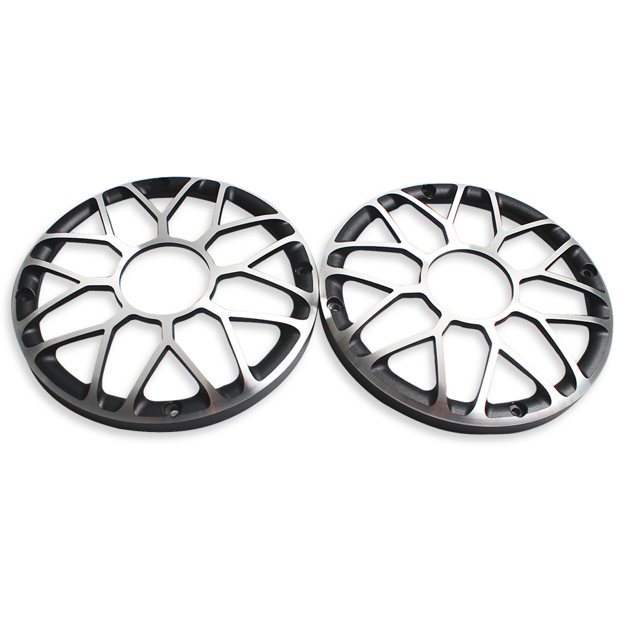 2Pcs 6 INCH 6.5 INCH SubWoofer Car Speaker Grill Mesh Enclosure Speakers Car Woofer Protection Cover Aluminum Decorative Ring