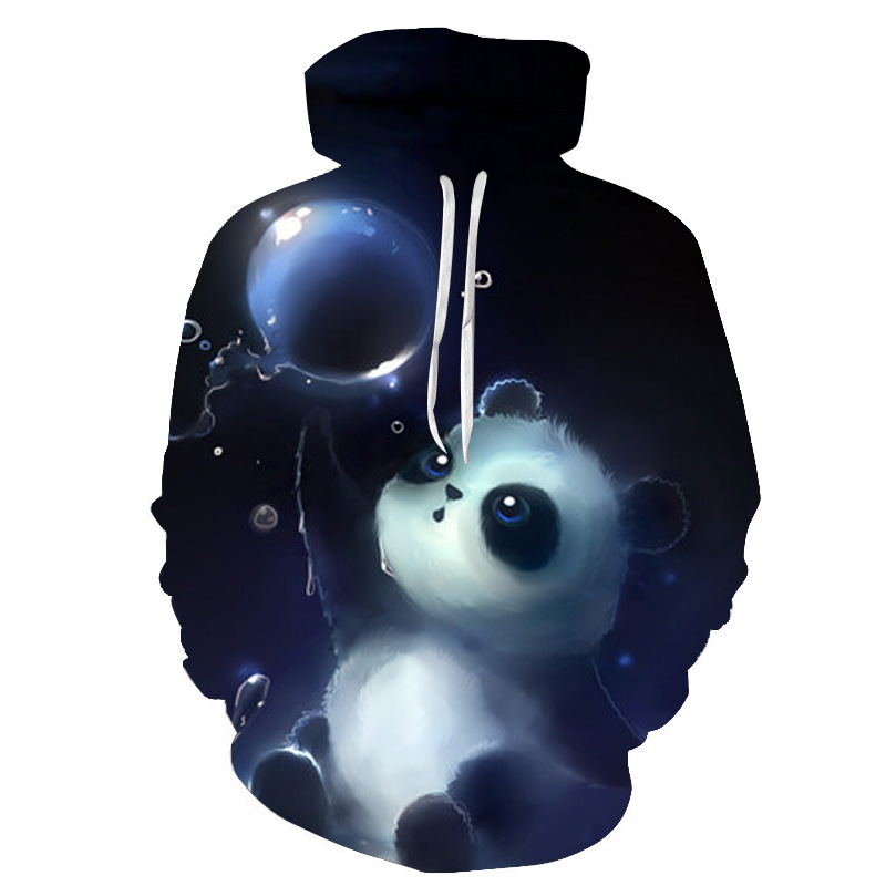 Cute Panda Printed <font><b>3D</b></font> <font><b>Hoodies</b></font> <font><b>Unisex</b></font> Sweatshirts Men Women Coats Hooded Jackets Autumn Winter Animal Tracksuits Fashion Pullover image