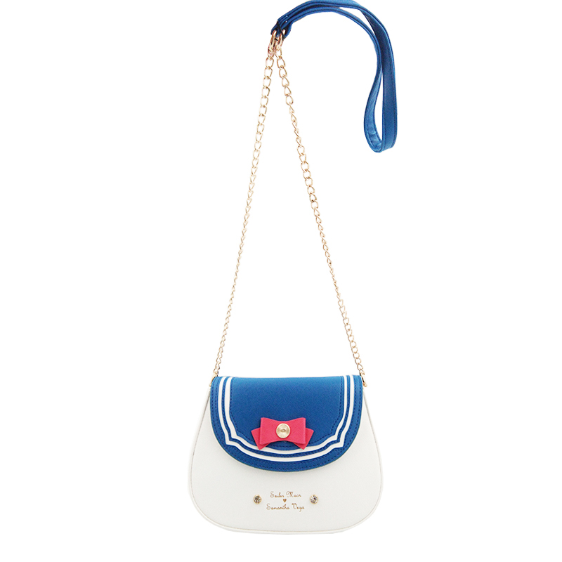 New 2018 Ladies Sailor Moon Bag Candy Color Chain Shoulder Bag PU Leather Cute Bow Handbag Women Messenger Small Crossbody Bag rdywbu candy color rivet chain shoulder bag women new pearl pu leather flap handbag girls fashion crossbody messenger bag b430