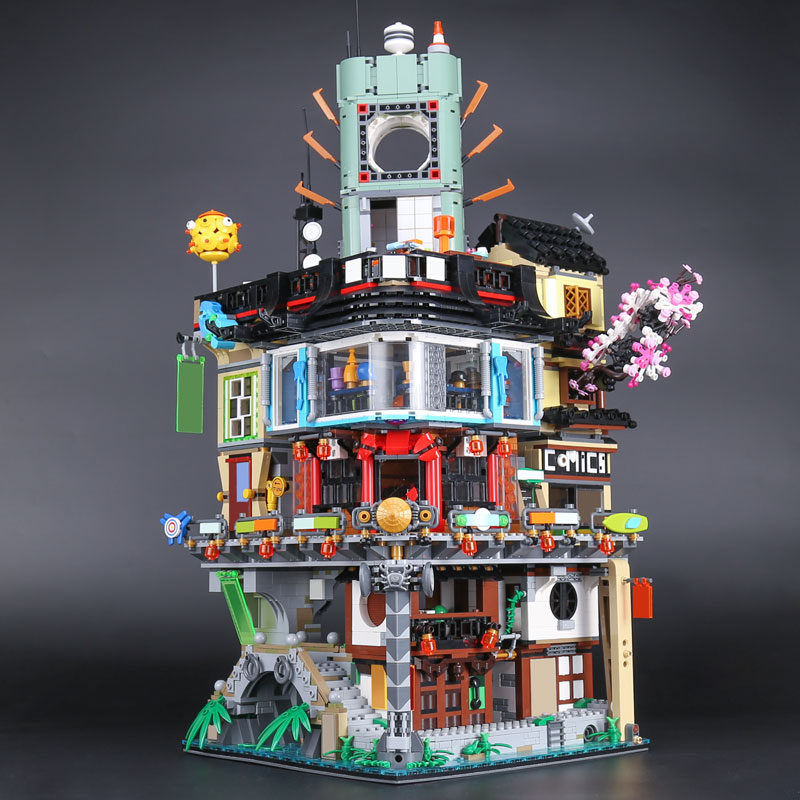 Lepine Ninja Movie 06066 Construction Model Creative City 4932pcs Modular Building Blocks Brick LegoINGlys Teenagers Toys 70620 lepine model
