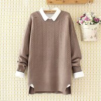 plus size winter women pullovers Criss Cross sweater 2017 Knitted casual ladies oversize sweater wool female 4XL khaki pink