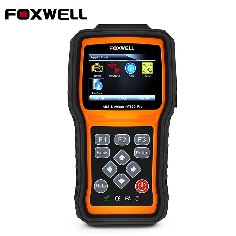 Foxwell NT630 Pro Automotive OBD2 Scaner OBD Engine Scanner + ABS + SRS Airbag Crash Data Reset Tool + SAS Steering Wheel Angle