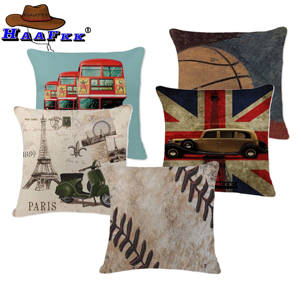 Elegant 2019 Hot Cushion Cover Baseball <font><b>Londo</b></font> Pillowcase Meditation Large Cotton Linen Lounger Forthe Beach Throw Pillow Cover image