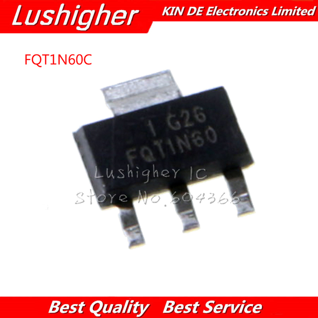 10pcs FQT1N60C FQT1N60 FQT1N60CTF SOT223 Original