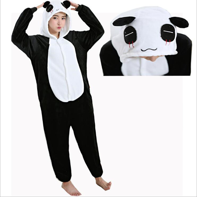 New Fashion Womens Character Animal Pajamas One Piece Full Sleeve Hooded Polyester Pajam ...