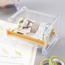 New Creative Desktop Paper Tape Cutter Holder Dispenser Craft Office Stationery Box