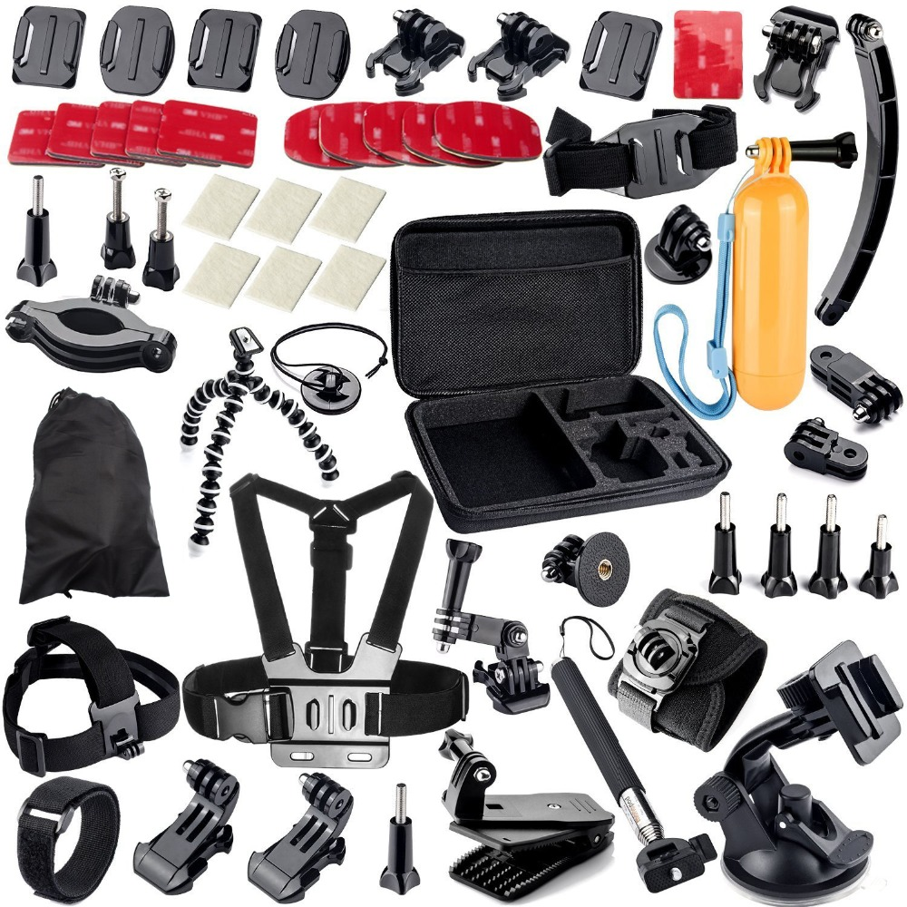 38 in 1 Accessory Kit Car Suction Cup Mount Holder + 360 Rotary Clip Mount Gopro Hero Camera SJ4000 SJ5000 SJ6000 Sport Camera