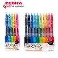 Зебра JJ15 SARASA зажим пресс красочная ручка с чернилами стандартных цветов ручка с гелевыми чернилами Шариковая ручка 0 5 мм японского производ...