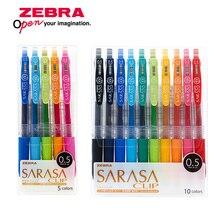 Zèbre JJ15 SARASA pince presse coloré neutre stylo Gel encre stylo écriture stylo 0.5mm japon 10 couleurs ensemble envoyer un nouvel emballage
