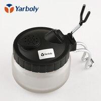 Airbrush Cleaning Pot Spray Gun Cleaner Stabilizer Glass Jar Bottles Holder Air Brush Kits Tool For
