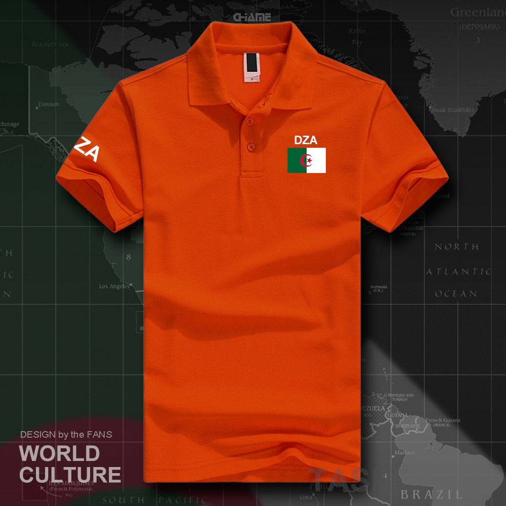 Image 5 - Republic of Algeria Algerian Islam DZA polo shirts men short  sleeve white brands printed for country 2017 cotton nation Dzayernats