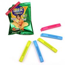 6pcs Candy Color Plastic Food Snack Storage Bag Clip Seal Preservative Film Sealing