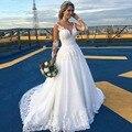 Vestido De Noiva New Ball Gown White Wedding Dresses Long Sleeves Applique Sheer Back Bride Dresses Casamento Plus Size
