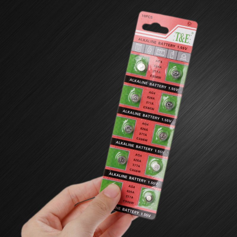 10PCS Watch Coin Battery AG4 377A 377 LR626 SR626SW SR66 LR66 Button Cell Batteries Toys Remote Camera F42D