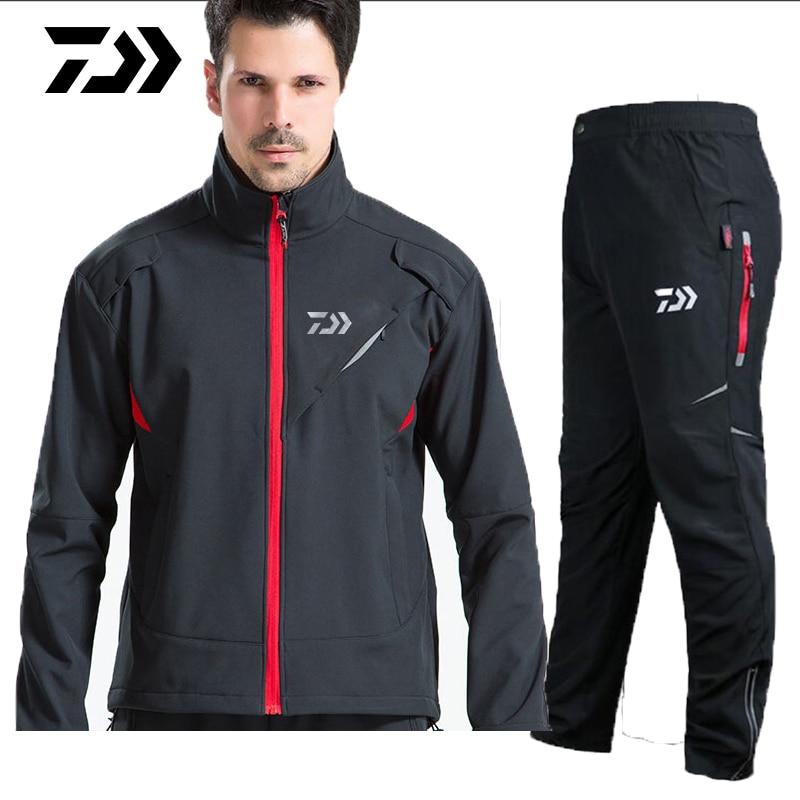 2019 DAIWA Daiwa Fishing Clothing Sets Men Breathable Sport Camping Hiking Fishing Jackets And Pants Autumn Winter Clothes Coat