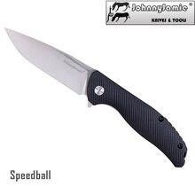 سكين جوني جيمي Speedball صغير F3 قابل للطي 420 من الفولاذ المقاوم للصدأ ستونواش بليد أسود FRN مقبض جيب EDC سكاكين التخييم