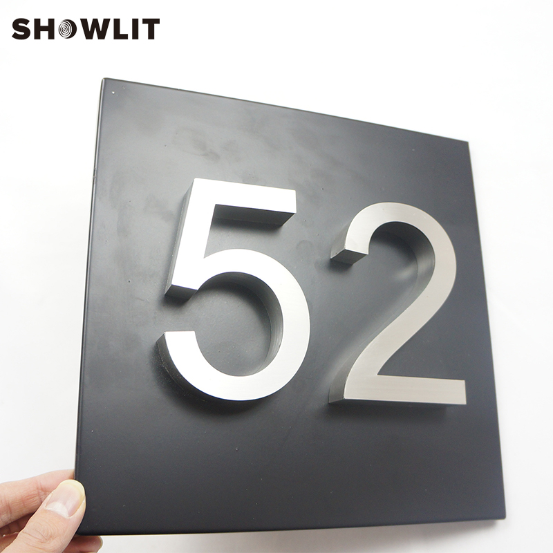 Modern Style Square Size Customized House PlateModern Style Square Size Customized House Plate