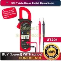 UNI-T UT201 1999 отсчетов Цифровой Авто Диапазон зажим мультиметр с 400A переменного тока тест и непрерывность зуммер