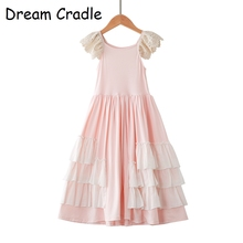 Dream Cradle / Junior Bridesmaid Dress Princess Girl for Birthday Party Lace Elegant Tulle