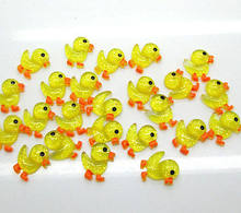 50Pcs Resin Yellow Duck Decoration Crafts Flatback Cabochon Scrapbooking Fit Hair Clips Embellishments Beads Diy(China)
