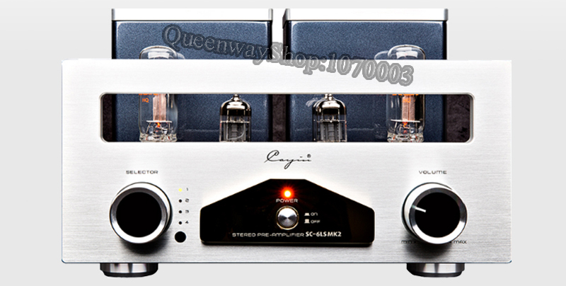 цена на cayin-6LS MK2 Stereophonic vacuum tube preamplifier With 12AU7EH vacuum tubes RCA 22DE4 rectifiers 15dB Gain