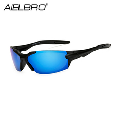 AIELBRO Cycling Sunglasses Men Fishing Glasses MTB Bike Bicycle Polarized Hiking Gafas Ciclismo Sport Eyewear