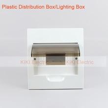 Panel Mount 8 way Waterproof Plastic cover and base distribution box / plastic lighting box/mini circuit breaker AN-TSM-8way