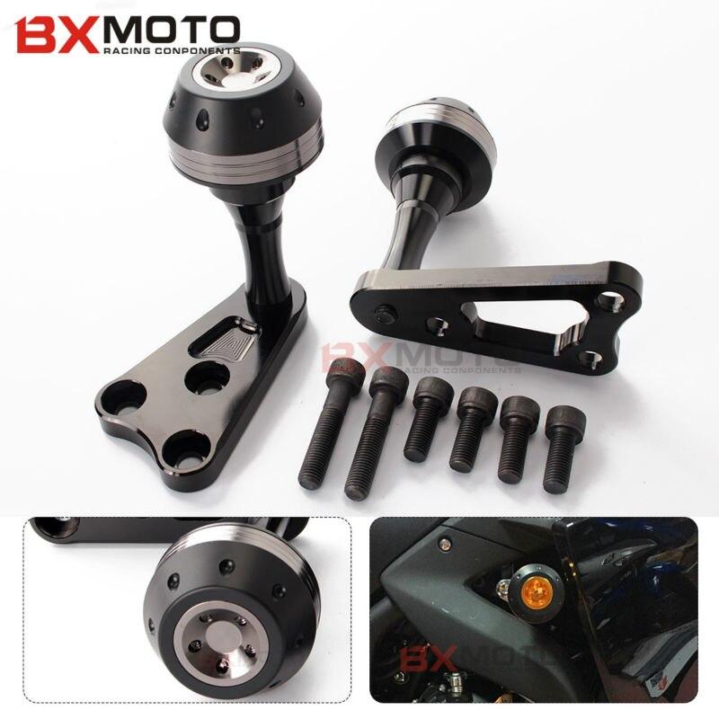 Accessoires de CNC pièces de protection contre les chutes de cadre de moto curseur Anti-choc casquettes d'échappement curseurs pour Yamaha YZF R3 R25 YZFR3