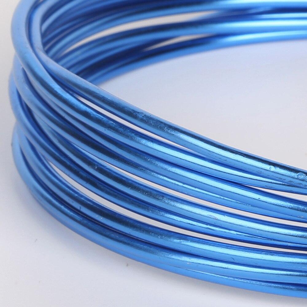Anodized Aluminum Versatile Painted Blue Metal Round Wire Soft DIY ...