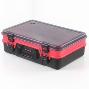 Multifunctional Waterproof Fishing Tackle Storage Plastic Box Double layer Fishing Tool Storage Case 38.5*26.4*12cm
