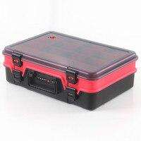 Multifunctional Waterproof Fishing Tackle Storage Plastic Box Double layer Fishing Tool Storage Case 38.5*26.4*12cm