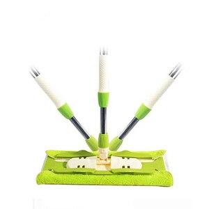 Image 2 - Esfregões lisos fáceis da tela dos materiais de limpeza do agregado familiar dos varredores de mop giratórios com a cubeta para varrer o assoalho duro para o líquido de limpeza preguiçoso