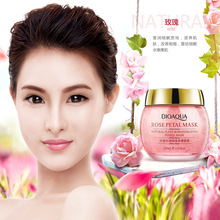 Rose water embellish wet petals mask sleep wash facial mask