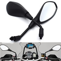 Universal 10mm Motorcycle Rearview Mirror Left&Right Rear View Mirrors Housing Side Mirror For KTM 690 Duke SMC R Enduro R LBR|Side Mirrors & Accessories| |  -
