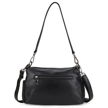 New Arrivals Double Zipper Compartment Cross-body Bags Multi-function Messenger Bags Luxurious Genuine Leather Women Handbags