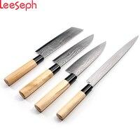 Cuchillo de cocina japonesa, Cuchillo Cocinero de Sushi y Sashimi, conjunto de 4