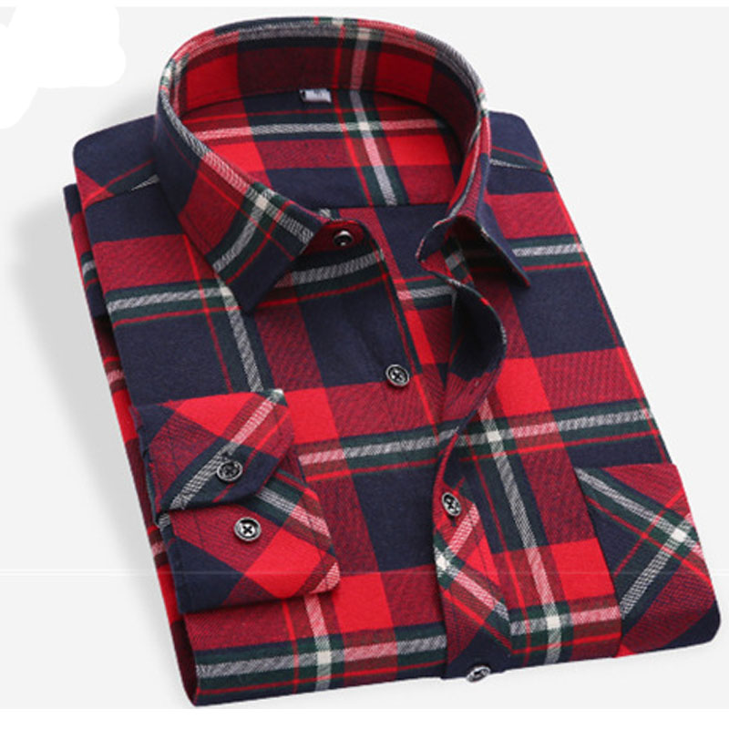 Mens Checkered Flannel Shirts Promotion-Shop for Promotional Mens ...