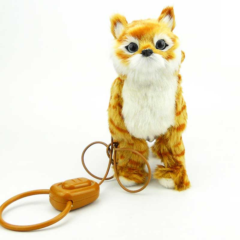 Robot Cat Electronic Cat Toy Electronic Plush Pet Toy Singing Songs Walk Mew Leash Kitten Toys For Children Birthday Gifts electronic monkey robot monkey plush animal toy sound control laughing talking interactive toys for children birthday gifts