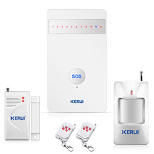 KERUI G25 french language Wireless GSM Alarm Systems Security Prptectiom Home alarm Burglar Android/iPhone APP Controlled(China)