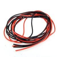 IMC Hot 2x3 M 14 Gauge AWG przewód z gumy silikonowej czerwony czarny elastyczny|Złącza|Lampy i oświetlenie -