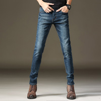 2017 Autumn And Winter Models Fashion Men S Thick Warm And Velvet Jeans Wild Trend Slim