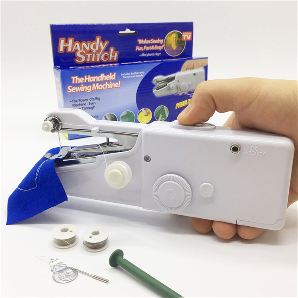 Mini HandHeld Cordless Sewing Machine Quick Stitch Clothes Fabric For Traveling Home Use Drop Shipping