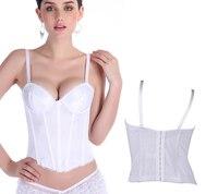 אפוד חדש לבן פשוט משי חתונה מעצב גוף Cincher אימון מותניים underbust סקסי מחוך Shapewear S-XXL 0862 נשים ילדה