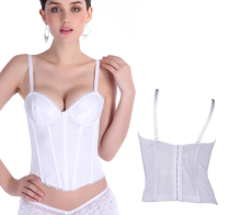 NEW vest white simple silk wedding underbust Sexy Waist Workout Cincher Body Shaper Shapewear Corset S-XXL 0862 Women girl